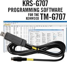 KRS-G707 Programming Software and USB-K4S Cable for the Kenwood TM-G707