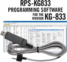 RPS-KG833 Programming Software and USB-K4Y cable for the Wouxun KG-833