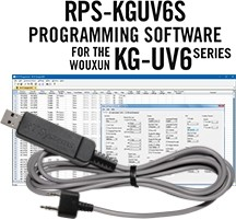 RPS-KGUV6S Programming Software and USB-K4Y cable for the Wouxun KG-UV6 Series radios