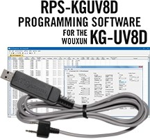 RPS-KGUV8D Programming Software and USB-K4Y cable for the Wouxun KG-UV8D and KG-UV8DPlus