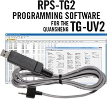 RPS-TG2 Programming Software and USB-K4Y cable for the Quansheng TG-UV2