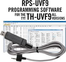 RPS-UVF9 Programming Software and USB-K4Y cable for the TYT TH-UVF9 and 9D radios