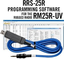 RRS-25R Programming Software and USB-70 cable for the Rugged Radios RM25R-UV