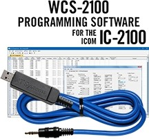 WCS-2100 Programming Software and USB-29A cable for the Icom IC-2100