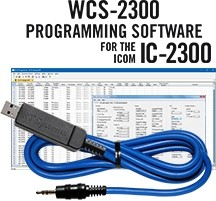 WCS-2300  Programming Software and USB-29A for the Icom IC-2300
