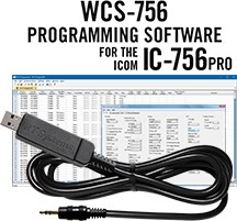 WCS-756 Programming Software and USB-RTS01 cable for the Icom IC-756 Pro series.