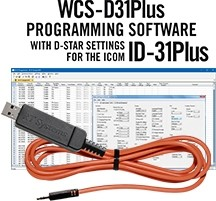 WCS-D31 Programming Software and USB-RTS05 data cable for the Icom ID-31/31Plus