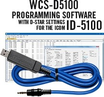 WCS-D5100 Programming Software and USB-29A cable for the Icom ID-5100
