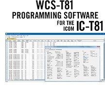 WCS-T81 Programming Software Only for the Icom IC-T81
