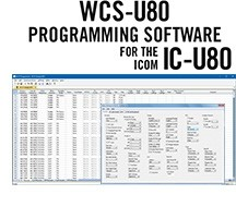 WCS-U80 Programming Software Only for the Icom IC-U80
