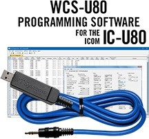 WCS-U80 Programming Software and USB-29A cable for the Icom IC-U80