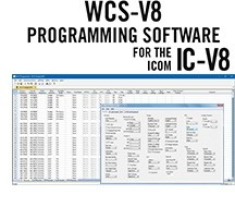 WCS-V8 Programming Software Only for the Icom IC-V8