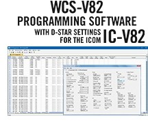 WCS-V82 Programming Software Only for the Icom IC-V82