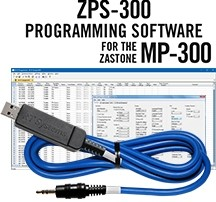 ZPS-300 Programming Software and USB-70 cable for the Zastone MP-300